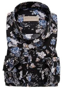 John Miller Floral Fantasy Overhemd Zwart