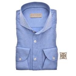 John Miller Hyperstretch Tailored Fit Overhemd Midden Blauw