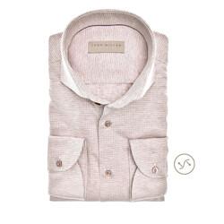 John Miller Long Sleeve Fine Pattern Slim Fit Overhemd Khaki