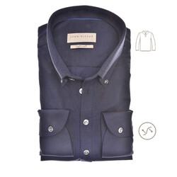 John Miller Long Sleeve Polo Slim Fit Polo Donker Blauw