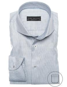 John Miller Luxury Fine Structure Shirt Mid Grey