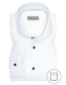 John Miller Luxury Plain Twill Overhemd Wit