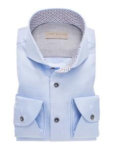 John Miller Luxury Structure Fashion Contrast Overhemd Licht Blauw