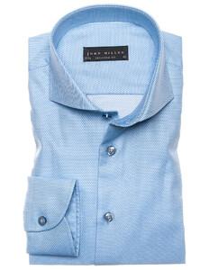 John Miller Luxury Structure Overhemd Licht Blauw
