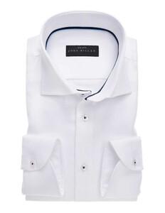 John Miller Luxury Structure Overhemd Wit