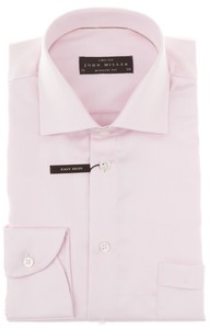 John Miller Luxury Two-Ply Structure Shirt Pink