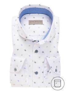 John Miller Modern Fantasy Floral Shirt White-Blue