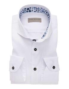 John Miller Pottery Contrast Button Uni Overhemd Wit
