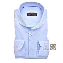 John Miller Slim Fit Cutaway Stretch Overhemd Licht Blauw