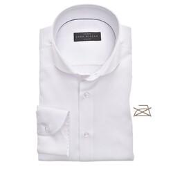 John Miller Slim Fit Longer Sleeve Non Iron Overhemd Wit