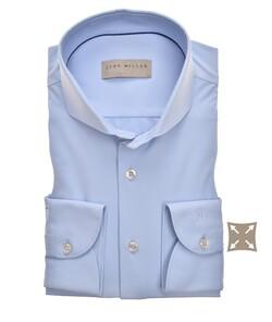 John Miller Slim Fit Uni Hyperstretch Overhemd Licht Blauw