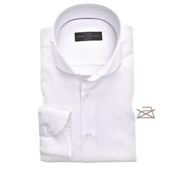 John Miller Slim Fit Uni Non Iron Overhemd Wit