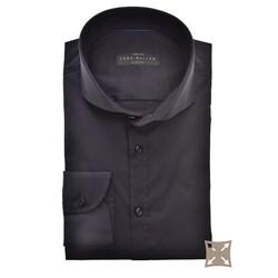 John Miller Slim Fit Uni Stretch Overhemd Donker Blauw