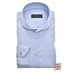 John Miller Slim Fit Uni Stretch Overhemd Licht Blauw