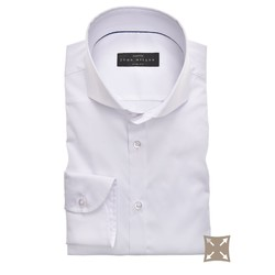 John Miller Slim Fit Uni Stretch Overhemd Wit