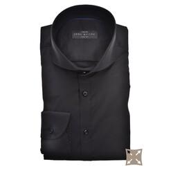 John Miller Slim Fit Uni Stretch Overhemd Zwart