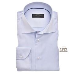 John Miller Slim Uni Non Iron Overhemd Licht Blauw