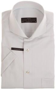 John Miller Small Stripe  Overhemd Licht Grijs