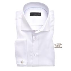 John Miller Tailored French Cuff Longer Sleeve Overhemd Wit