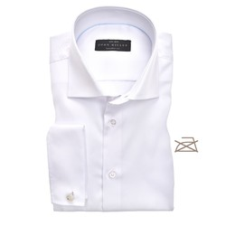 John Miller Tailored French Cuff Non Iron Overhemd Wit