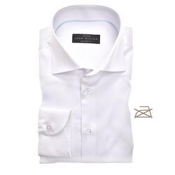 John Miller Tailored Longer Sleeve Non Iron Overhemd Wit