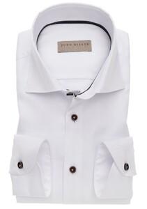 John Miller Tailored Mouwlengte 7 Non Iron Overhemd Wit