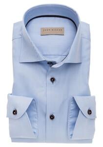 John Miller Tailored Sleeve 7 Non Iron Shirt Light Blue