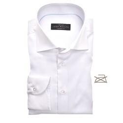 John Miller Tailored Uni Non Iron Overhemd Wit