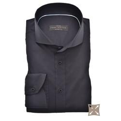 John Miller Tailored Uni Stretch Overhemd Donker Blauw