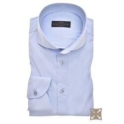 John Miller Tailored Uni Stretch Overhemd Licht Blauw