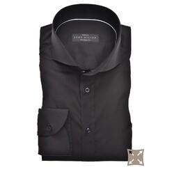 John Miller Tailored Uni Stretch Overhemd Zwart