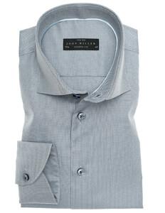 John Miller Two-Ply Button Contrasted Overhemd Midden Grijs