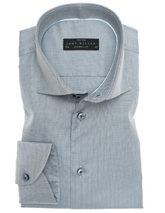 John Miller Two-Ply Button Contrasted Shirt Mid Grey