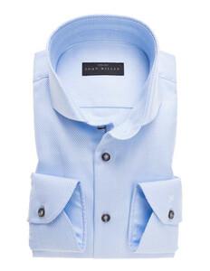 John Miller Two-Ply Luxury Structure Overhemd Licht Blauw