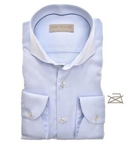 John Miller Uni Cutaway Non Iron Overhemd Licht Blauw