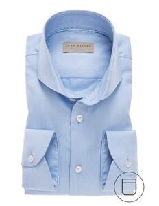 John Miller Uni Cutaway Overhemd Midden Blauw
