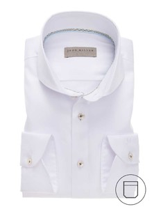 John Miller Uni Cutaway Overhemd Wit