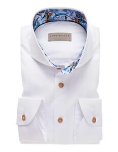 John Miller Uni Floral Contrast Shirt White