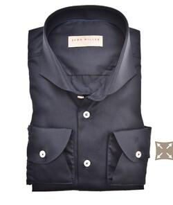 John Miller Uni Full Cotton Stretch Overhemd Donker Blauw