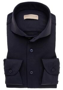 John Miller Uni Mouwlengte 7 Slim Stretch Overhemd Donker Blauw