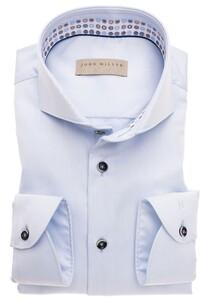 John Miller Uni Non Iron Overhemd Licht Blauw