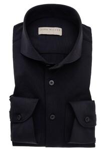 John Miller Uni Slim Stretch Shirt Black