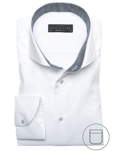 John Miller White and Silver Overhemd Wit