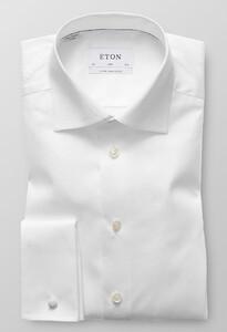 Eton Slim Extra Long Sleeve Dubbele Manchet Wit