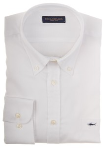 Paul & Shark Shark Basic Oxford Wit