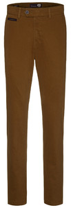 Gardeur Benny-3 Cashmere Cotton Flat-Front Terracotta