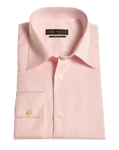 John Miller Dress-Shirt Non-Iron Zacht Roze
