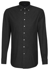Seidensticker Button Down Structure Black