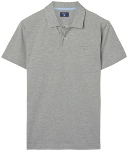 Gant Oxford Piqué Short Sleeve Rugger Grijs Melange
