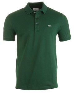 Lacoste Stretch Slim-Fit Mini Piqué Groen